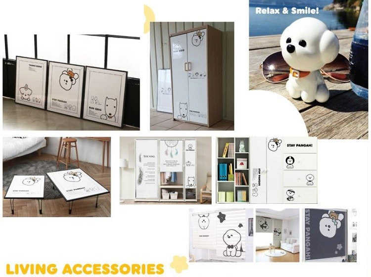 Various merchandises using character of STAY PANGAH!