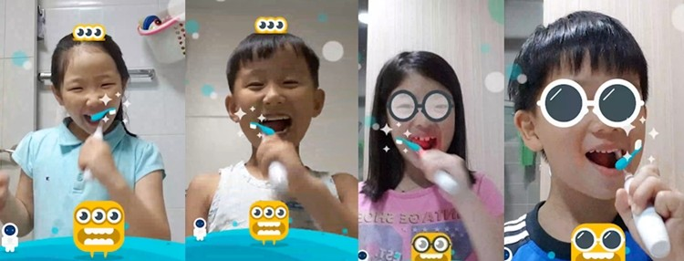 Kids can learn how to use tooth brush with Brush Monster app and Smart tooth brush easily and funny.