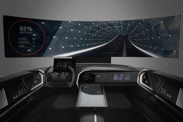 Connected car cockpit that will be introduced by Hyundai Motor Company at CES 2018