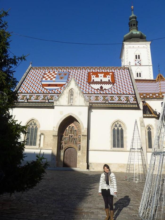 성마르카성당 앞에서