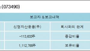 [ET투자뉴스][이노와이어리스 지분 변동] 신영자산운용(주)-1.893%p 감소, 18.538% 보유