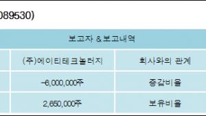 [ET투자뉴스][에이티세미콘 지분 변동] (주)에이티테크놀러지 외 1명 -8.58%p 감소, 4.1% 보