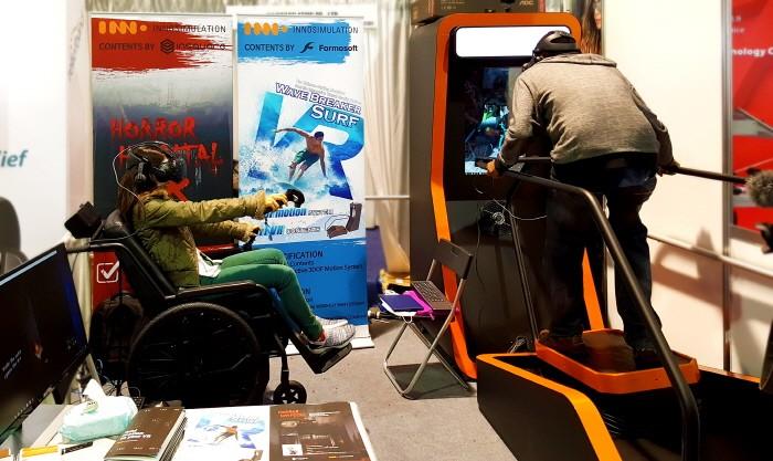 '국내 가상현실 선도기업' 이노시뮬레이션 측은 최근 미국 라스베이거스에서 개최중인 '2018 국제소비가전전시회(이하 CES2018)' 무대에서 VR부문 전시자로 나서며 호평받았다. (사진=이노시뮬레이션 제공)