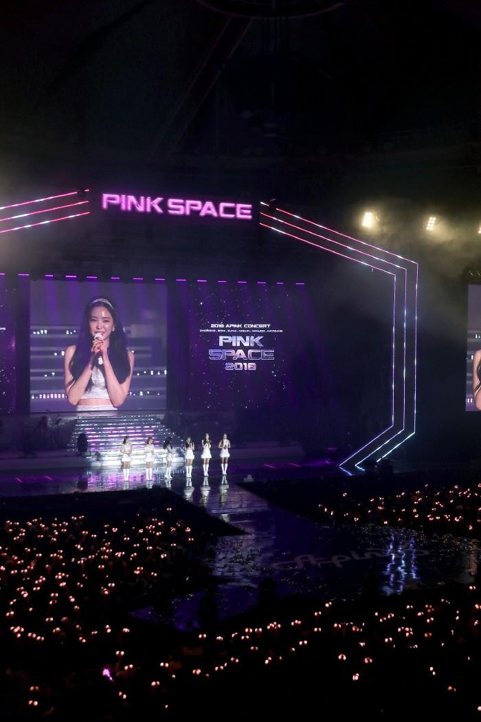 12일 서울 송파구 올림픽공원 SK핸드볼경기장에서는 에이핑크의 네 번째 단독콘서트 'Pink Space 2018' 1일차 공연이 개최됐다. (사진=플랜에이 엔터테인먼트 제공)