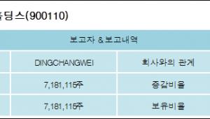 [ET투자뉴스][이스트아시아홀딩스 지분 변동] DINGCHANGWEI7.2%p 증가, 7.2% 보유