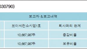 [ET투자뉴스][동양네트웍스 지분 변동] 브이씨컨소시엄1호11.31%p 증가, 11.31% 보유
