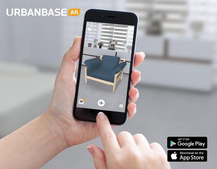 어반베이스의 'Urbanbase AR' 앱 화면