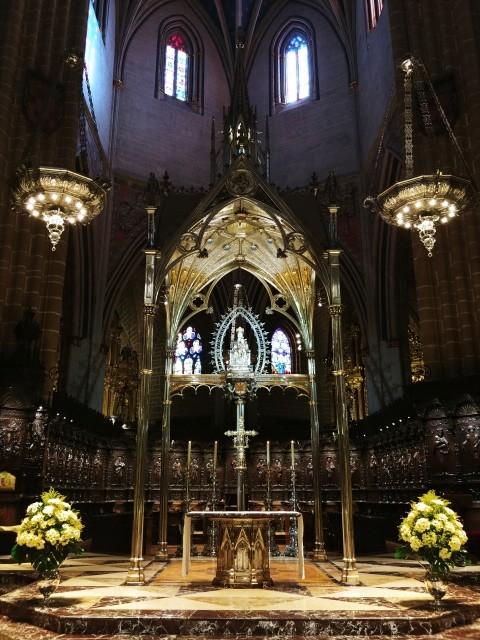 팜플로나 산타 마리아 대성당 내부.