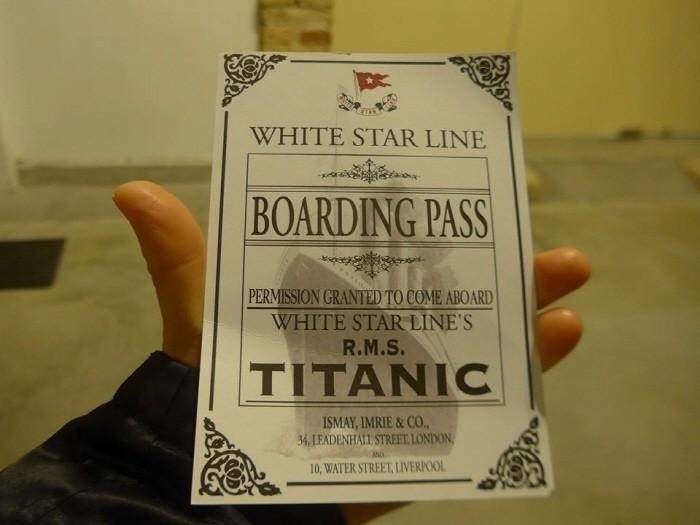 타이타닉 1등실에 탑승