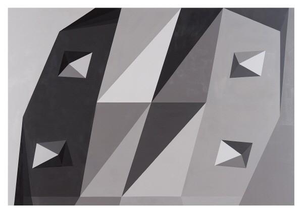 '김충재 'Mold 3-1, Acrylic on canvas, 162×112cm, 2018'. 사진=스피커 제공