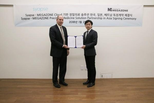 메가존, Syapse '정밀 의료 솔루션' 한국·일본·베트남 독점 파트너십 체결