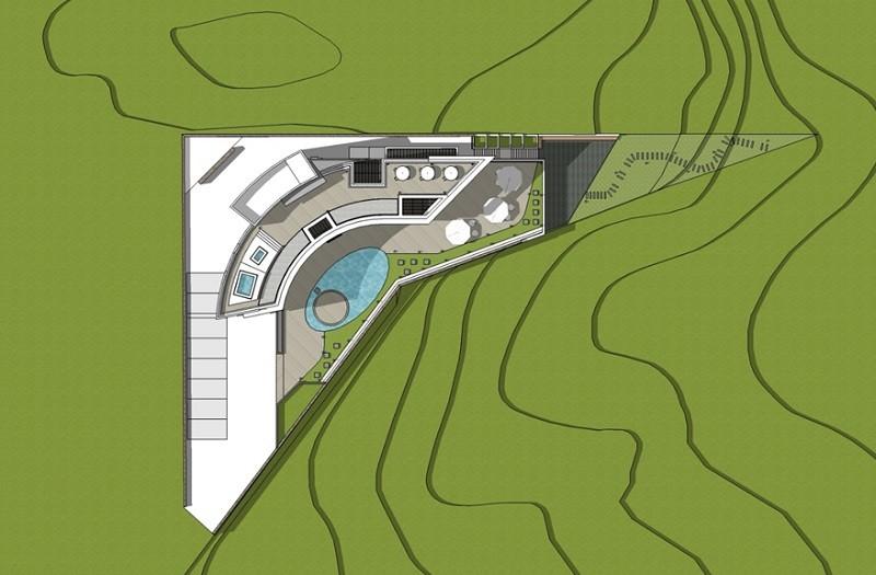 대지에 주택이 위치한 배치와 기준층 평면도 (윤창기, 경암건축)