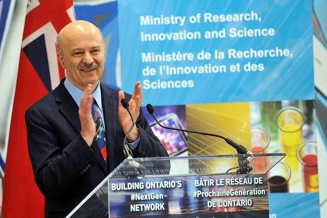 레자 모리디(Reza Moridi) 온타리오 주 연구혁신과학부 장관