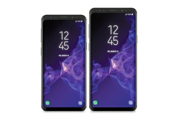 Rendering image of Galaxy S9 series published by Evan Blass on his Twitter