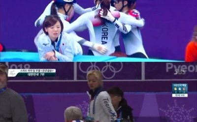 [쇼트트랙 여자 3000m 계주] 김보름 팀추월 상반된 팀워크...'김보름에겐 없는 것'