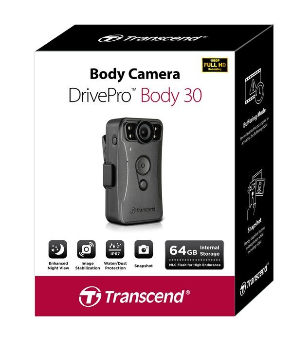 트랜센드 보안용 바디캠 '드라이브프로 바디 30'