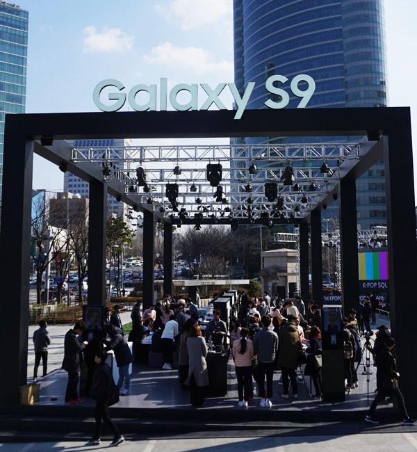 코엑스 K-POP광장에 세워진 갤럭시 스튜디오