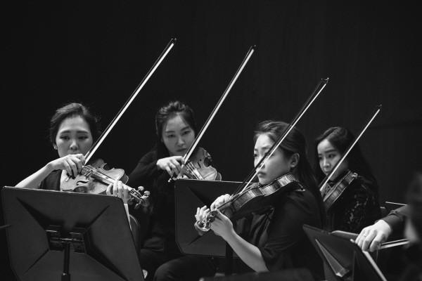 '오케스트라 앙상블 서울 OES의 쇤베르크 정화된 밤' 리허설사진. 사진=김신중 제공