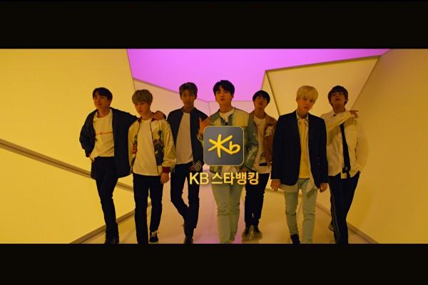 KB국민은행, 방탄소년단과의 첫 광고'KB스타뱅킹'영상 공개