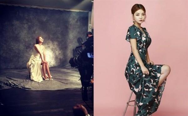 배우 김하정이 특별한 매력으로 팜므파탈적인 모습으로 광고 CF 그리고 프로필 촬영한 모습이다. 사진=웰메이드 코리아 제공