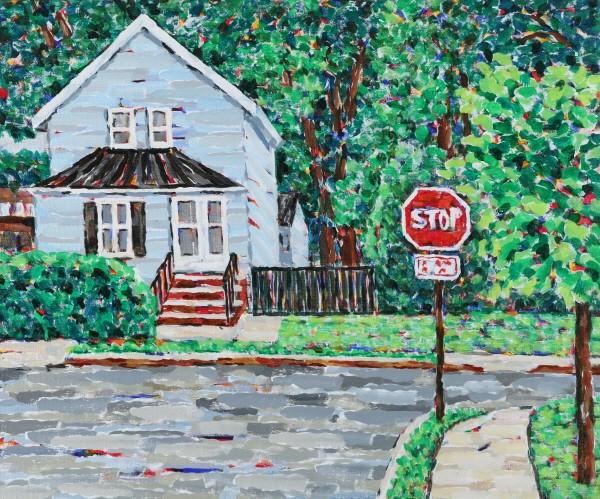 '뉴저지 숙소, 72.7×60.0cm, Acrylic on canvas, 2016'. 사진=갤러리 바이올렛 제공