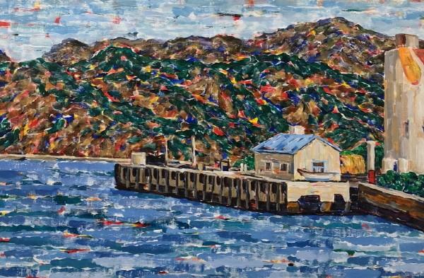 '마산항, 60.6×90.9cm, Acrylic on canvas, 2016'. 사진=갤러리 바이올렛 제공