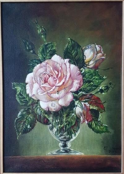 '화병속 꽃, 32.0×43.0cm, oil on canvas'. 사진=Sin Tatiana 제공