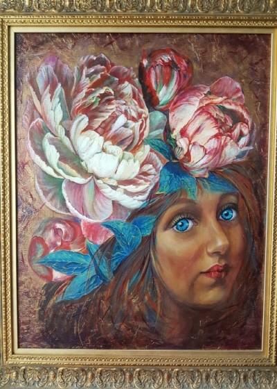 '훌로라, 59.0×72.0cm, oil on canvas'. 사진=Sin Tatiana 제공