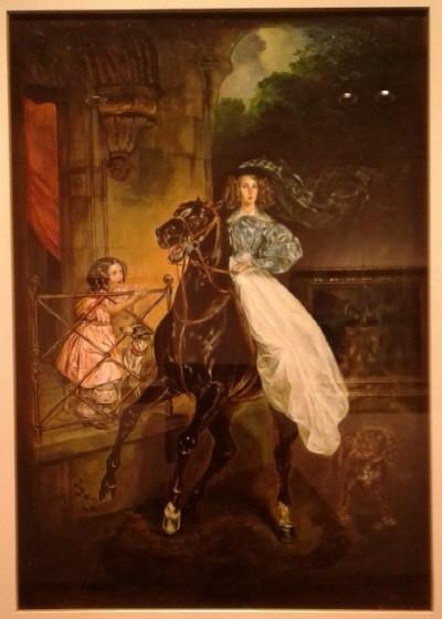 '말타는 여인, 53.0×43.0cm, oil on canva'. 사진=Sin Tatiana 제공