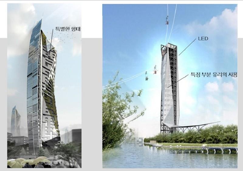 집라인 타워의 기획안 (자료제공 윤창기, 경암건축)