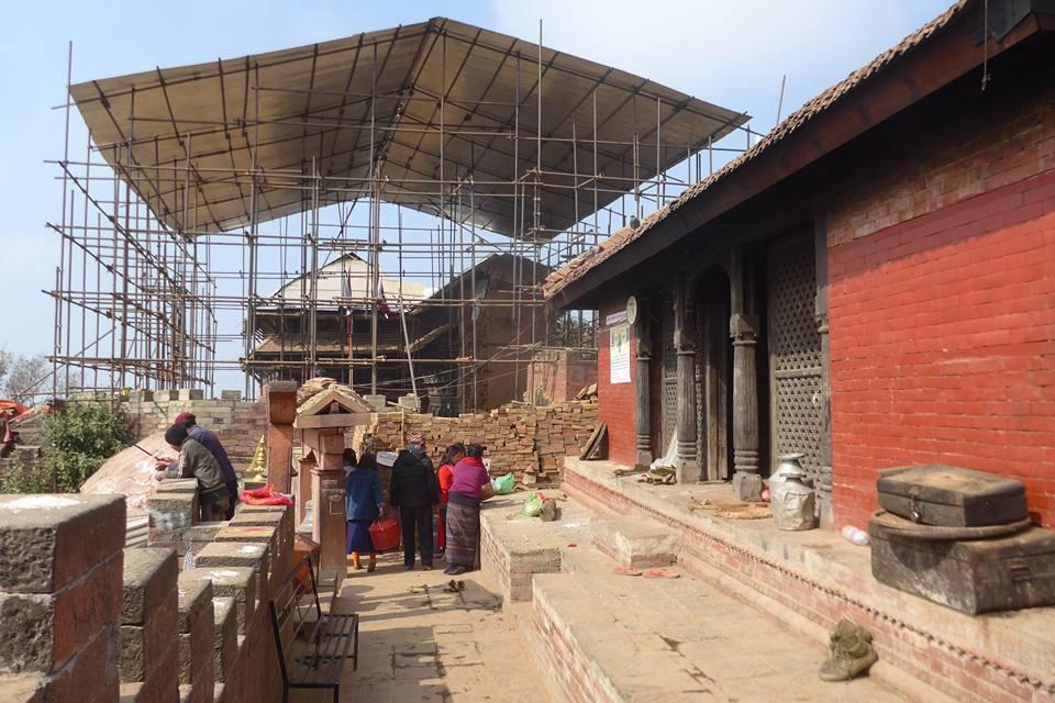 지진에 무너진 왕궁