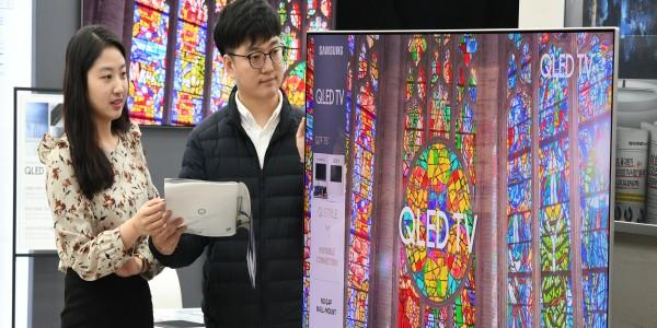 삼성전자, 75형 이상 초대형 TV 시장 독주…점유율 50% 달성