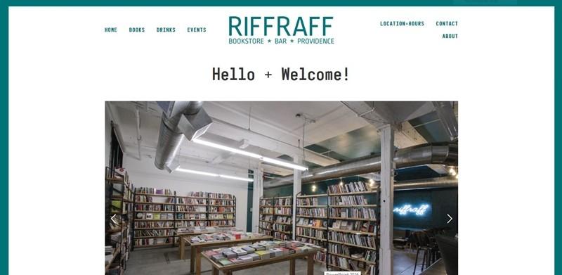 리프라프 웹사이트에 게시된 책 매장 전경