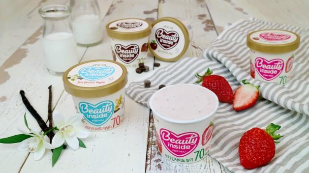 빙그레는 최근 고객들의 개성이 강화되고 있는 것에 주목해 날씬하고 맛있는 컵 아이스크림 제품인 '뷰티인사이드'도 선보였다. 사진=빙그레 제공