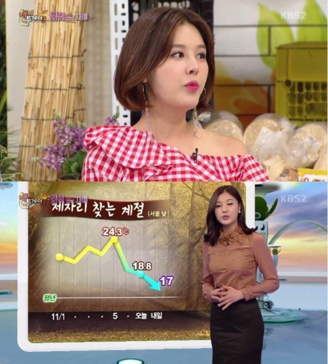 사진=방송인 박은지는 MBC 기상캐스터로 방송계 데뷔한 이력이 있다.