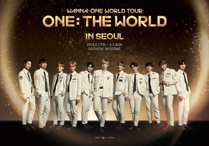 오는 6월 서울 고척스카이돔에서 열릴 워너원의 월드 투어 'Wanna One World Tour-ONE : THE WORLD'(이하 원 더 월드)의 티켓오픈이 진행된다. (사진=CJ E&M 제공)