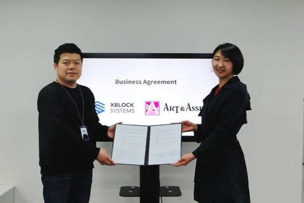 XBLOCK SYSTEMS (formerly Certon) signed off on a MOU (Memorandum of Understanding) with Art & Asset, which is a company specializing in art, regarding new businesses based on blockchain technologies.  Director Cho Young-joon of XBLOCK SYSTEMS (Left) and CEO Ha Hyun-jung of Art & Asset took a commemorative picture.