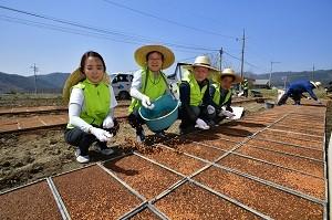 농협금융지주, 자매결연마을 영농철 일손돕기 나서