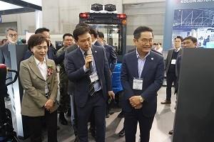 코오롱오토플랫폼, 국제물류산업전 참가...7종 제품 전시·홍보
