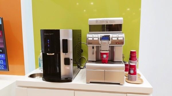 카페다뉴브의 커피머신렌탈 서비스를 이용 중인 여의도 금융사 현장 사진