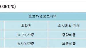 [ET투자뉴스][SK디스커버리 지분 변동] 최창원 외 8명 22.03%p 증가, 44.75% 보유