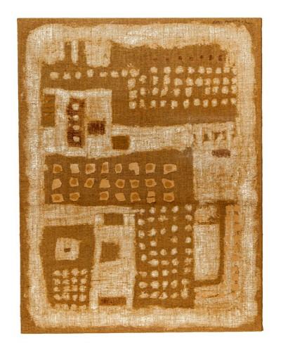`WORK9805-Coexistence, mixed media(마대), 145.5×112cm, 1998`. 사진=이명애 제공