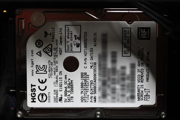 사진 = 내부 슬롯에 장착한 2.5인치 HDD