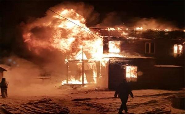 화재 당시의 사진을 누군가가 찍은 사진 모습이다. 사진=류광현 제공