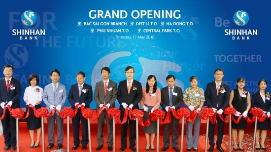 신한베트남은행, '박사이공 지점' 등 4개 영업점 동시 개점