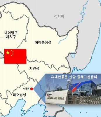 CJ대한통운이 중국 동북3성(랴오닝성·지린성·헤이룽장성)의 물류 요충지인 선양에 대규모 물류센터를 개소하고 북방물류 확대에 박차를 가하고 나섰다. 사진=CJ대한통운 제공