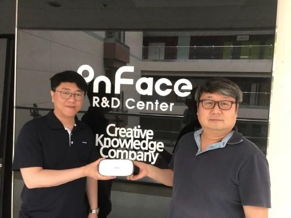 온페이스 양재열 대표(좌)와 토마토브이알하우스 김한성 대표