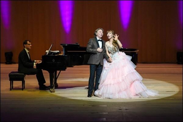 조수미와 로베르토 알라냐의 '디바&디보 콘서트' 공연사진. 사진=세종문화회관 제공