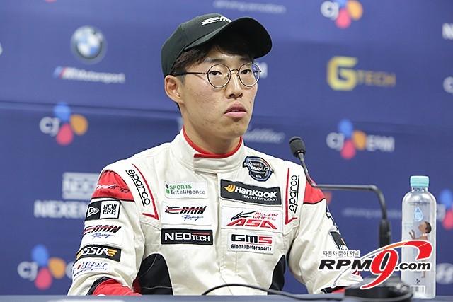 CJ대한통운 슈퍼레이스 3전 ASA GT 결승 3위 노동기 선수 (사진 황재원 기자)