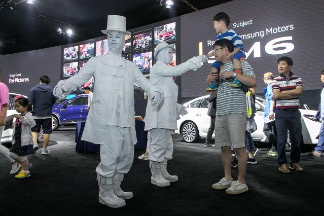 르노삼성, 부산모터쇼에서 관람객 참여 이벤트로 인기